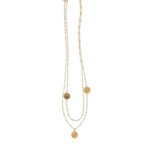 DOUBLE COINS necklace - Anka Krystyniak