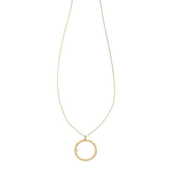 Anka Krystyniak - CIRCLE WITH A BRILLIANT-CUT DIAMOND (GOLD)