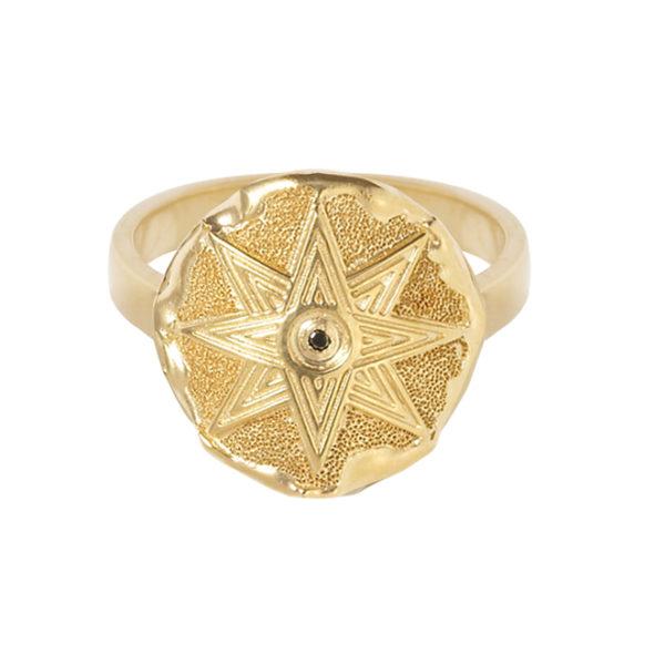 ISHTAR SIGNET RING (GOLD) - Anka Krystyniak