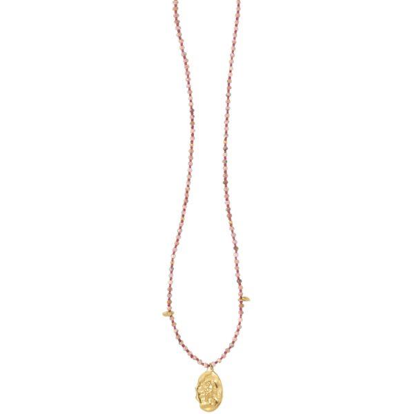 Anka Krystyniak - RHODOCHROSITE ANGEL necklace