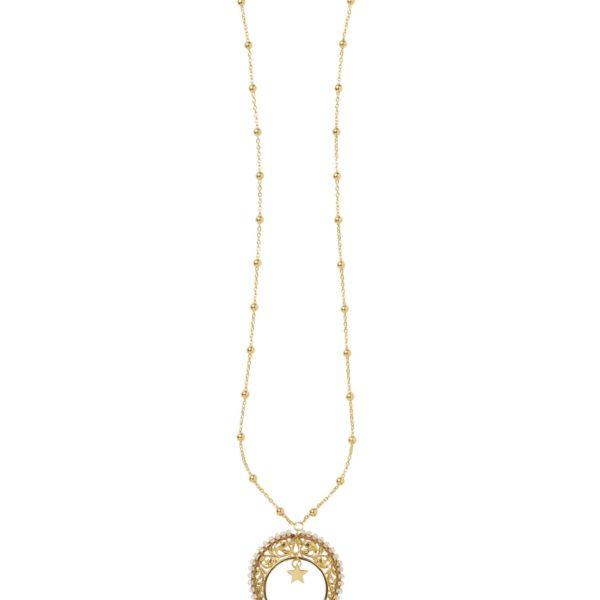 LUNULA WITH MOONSTONE necklace - Anka Krystyniak