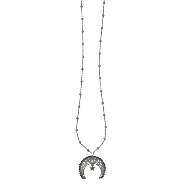 LUNULA WITH GEMSTONES 7 necklace - Anka Krystyniak