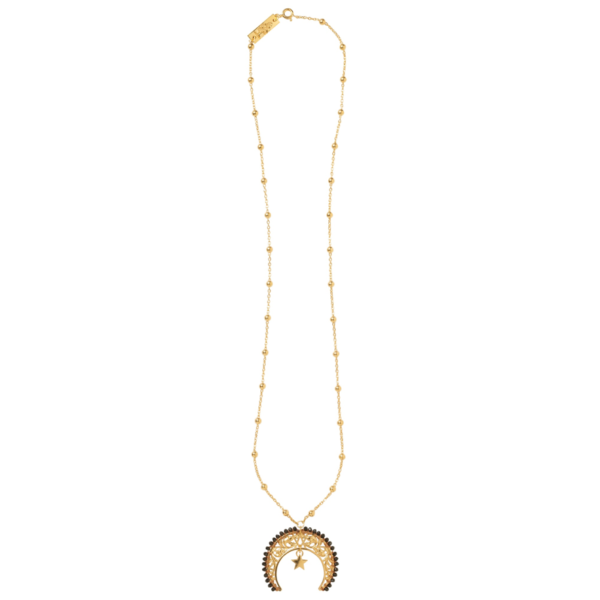 LUNULA Z KAMIENIAMI 8 necklace - Anka Krystyniak