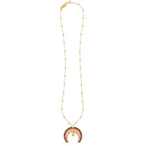 LUNULA WITH GEMSTONES 8 necklace - Anka Krystyniak