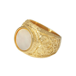 Signet ring White Cat 1 - Anka Krystyniak