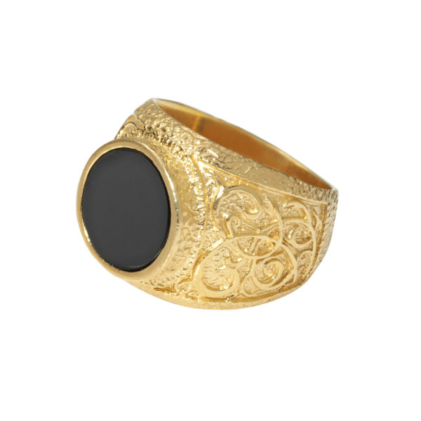 Signet ring Black Cat 2 - Anka Krystyniak