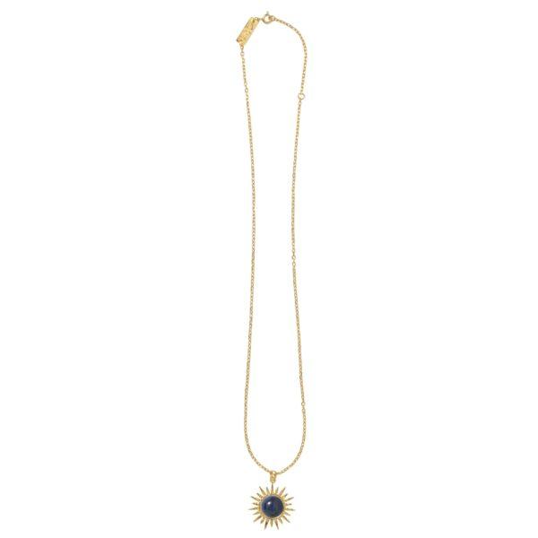 SUN WITH LAPIS necklace - Anka Krystyniak