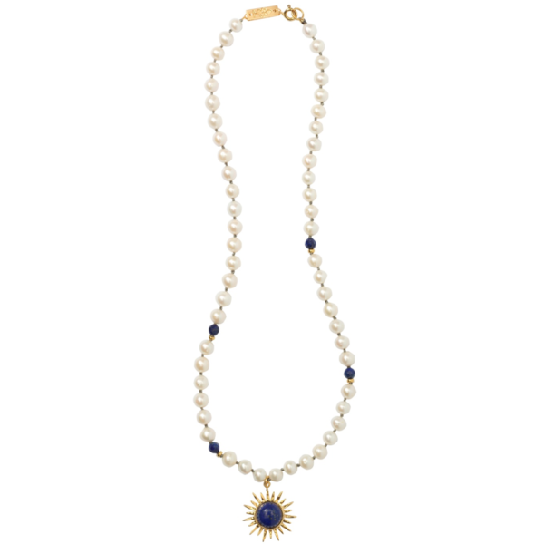 Anka Krystyniak - SMALL SUN WITH LAPIS necklace